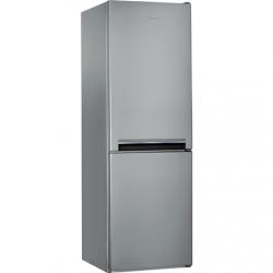 INDESIT Refrigerator LI7 S1E S Energy efficiency class F, Free standing, Combi, Height 176.3 cm, Fridge net capacity 197 L, Freezer net capacity 111 L, 39 dB, Silver