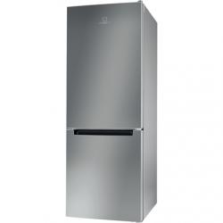 INDESIT Refrigerator LI6 S1E S Energy efficiency class F, Free standing, Combi, Height 158.8 cm, Fridge net capacity 197 L, Freezer net capacity 75 L, 39 dB, Silver