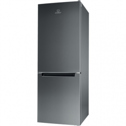INDESIT Refrigerator LI6 S1E X Energy efficiency class F, Free standing, Combi, Height 158.8 cm, Fridge net capacity 197 L, Freezer net capacity 75 L, 39 dB, Inox