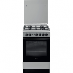 INDESIT Cooker IS5G1PMX/E Hob type Gas, Oven type Gas, Inox, Width 50 cm, Grilling, 59 L, Depth 60 cm