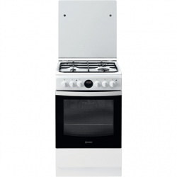 INDESIT Cooker IS5G8CHW/PO Hob type Gas, Oven type Electric, White/Black, Width 50 cm, Grilling, 57 L, Depth 60 cm