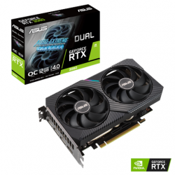 Asus DUAL-RTX3060-O12G NVIDIA, 12 GB, GeForce RTX 3060, GDDR6, PCI Express 4.0, Cooling type Active, Processor frequency 1837 MHz, HDMI ports quantity 1