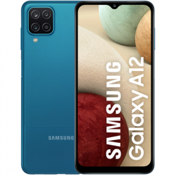 "Samsung Galaxy A12 A125 Blue, 6.5 "", PLS TFT LCD, 720 x 1600, Mediatek MT6765 Helio P35, Internal RAM 4 GB, 64 GB, MicroSD, Dual SIM, Nano-SIM, 3G, 4G, Main camera 48+5+2+2 MP, Secondary camera 8 MP, Android, 10.0, 5000 mAh"