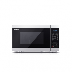 Sharp Microwave Oven  YC-MG02E-S  Free standing, 20 L, 800 W, Grill,  Silver