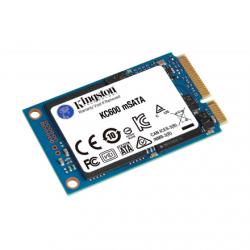 Kingston KC600 256 GB, SSD interface mSATA, Write speed 500 MB/s, Read speed 550 MB/s