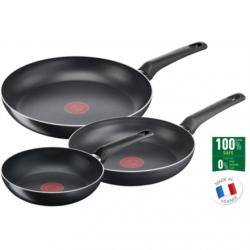 TEFAL B5569153 Simple Cook Set of 3 Frying, Diameter 20 / 24 / 28 cm