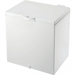 INDESIT Freezer OS 1A 200 H Energy efficiency class F, Chest, Free standing, Height 86.5 cm, Total net capacity 202 L, White
