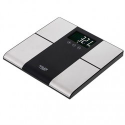 Adler Bathroom scale with analyzer AD 8165 Maximum weight (capacity) 225 kg, Accuracy 100 g, Body Mass Index (BMI) measuring, Stainless steel/Black