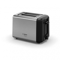 Bosch DesignLine Toaster TAT3P420 Power 970 W, Number of slots 2, Housing material  Stainless steel, Stainless steel/Black