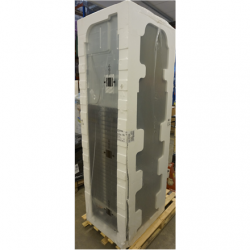 SALE OUT. LG Refrigerator GBB72PZEMN Energy efficiency class E, Free standing, Combi, Height 203 cm, No Frost system, Fridge net capacity 277 L, Freezer net capacity 107 L, 36 dB, Silver, DAMAGED PACKAGING, SCRATCHES ON SIDE