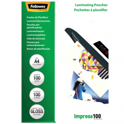 Fellowes Laminating Pouch 100 µ, 216x303 mm - A4, 100 pcs
