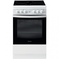 INDESIT Cooker IS5V8GMW/E Hob type Electric, Oven type Electric, White, Width 50 cm, Grilling, 57 L, Depth 60 cm