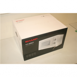 SALE OUT. Sharp YC-MS01E-C Microwave oven, 20 L capacity, 800 W, White Sharp Microwave Oven  YC-MS01E-C Free standing, 20 L, 800 W,  White, DAMAGED PACKAGING