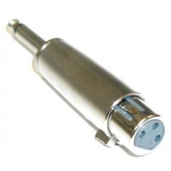 "Jungtis ""6.3mm kištukas mono – XLR3 lizdas"""