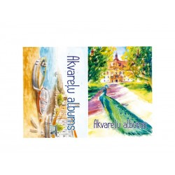 Piešimo albumas akvarelei ABC JUMS