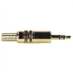 3.5mm kištukas stereo auksinis