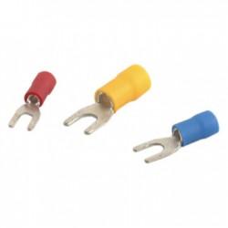 Šakutė 4.3mm geltona 2.5-6.5mm laidui