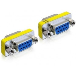 Delock Adapter Gender Changer Sub-D9 female / female