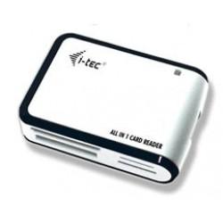 Atminties kortelių skaitytuvas i-Tec USB2.0 All-in-One Baltai juodas