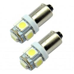 Lemputė 12V 5SMD 5050 BA9S LED balta