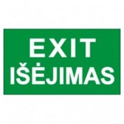 Lipdukas Išėjimas/Exit 29x13cm