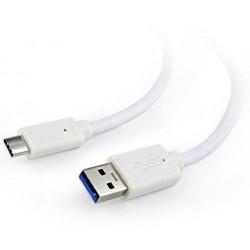 Kabelis USB-C TO USB3 1M baltas/CCP-USB3-AMCM-1M-W GEMBIRD