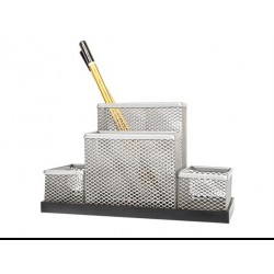 Pieštukinė 4sk. Forpus, metalinė sidabrinė