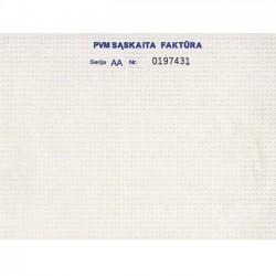 PVM sąskaita-faktūra 8 colių 1+1 Nr. be lentelės