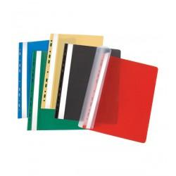 Plastikinis segtuvėlis su įsegėle ir perforacija A4 raudonos spalvos