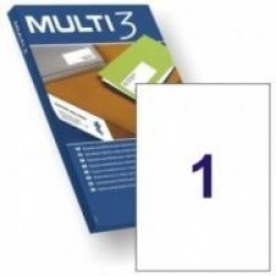 Lipnios etiketės MULTI-3, 210x297 mm. A4