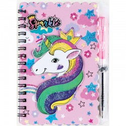 """Užrašų knygelė A6 """"Unicorn"""" su tušinuku"""