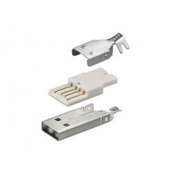 USB A kištukas kabeliui