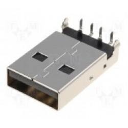 Lizdas USB A tipo lituojamas į plokštę