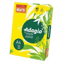 Spalvotas popierius REY ADAGIO 66, A4, 80 g/m2, 500 lapų, geltona